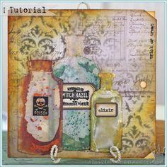 Tammy Tutterow Tutorial   Magic Elixir Halloween Card