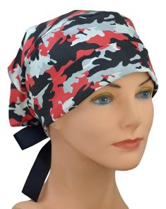 Medium to Large Perfect Fit Surgical Scrub Hats for Women Texas Tech, Natural Latex, Blush Roses, Georgia Bulldogs, Scrub Hats, Hats For Women, Scrubs, Camo, Perfect Fit