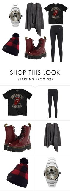 """""""Rolling Stone Spring"""" by blackpoppy45 on Polyvore featuring mode, True Religion, Dr. Martens, H&M, NIKE, Zadig & Voltaire, women's clothing, women, female et woman"""