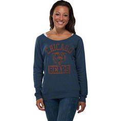 Chicago Bears Women's Navy Heather Off the Shoulder Sweatshirt $39.99 http://www.fansedge.com/Chicago-Bears-Womens-Navy-Heather-Off-the-Shoulder-Sweatshirt-_684429383_PD.html?social=pinterest_pfid21-03822
