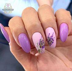 Cute Gel Nails, Chic Nails, Cute Acrylic Nails, Stylish Nails, Pretty Nails, Flower Nail Designs, Nail Art Designs, Spring Nails, Summer Nails