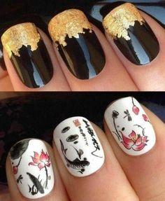 Awesome Japanese Nail Art Design 111