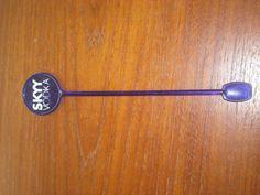 SKYY VODKA Swizzle Stick Drink Stirrer Spoon 7.25 inches Blue Plastic