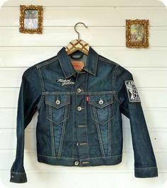 LEVI`S Jeans Jacke Größe 8 (116/122) WIE NEU Hendrix Rock n´Roll Vintage Jackson | eBay