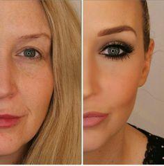 False lashes and contour go a long way Long Lob, Glamorous Makeup, False Lashes, Contour, Bob, Glamour, Hair, Beauty, Clothes