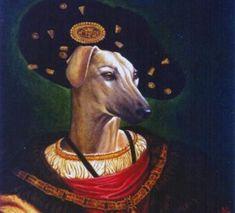 Rotko. Retrato de Galgo con traje y sombrero.  Francis des Blas