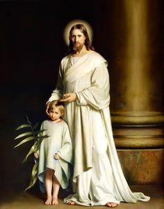 Carl Bloch, Christ and the Young Child http://www.christopherbenek.com/wp-content/uploads/2012/04/Carl-Bloch-Christ-and-the-Young-Child.jpg