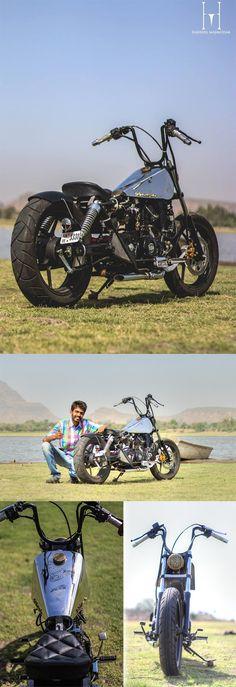 #Bajaj Avenger Turns out Into a Silver Sailor Edition Bobber, Images Inside #motorcycle