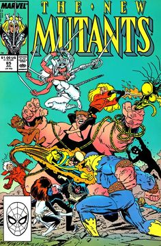 """The New Mutants """"Volume 1, Number 65"""" (July, 1988) Fall of the Mutants aftermatch"""