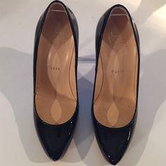 Real ! Christina Louboutin Size 6 1/2 (36 1/2) Christian Louboutin Paris- worn once Christian Louboutin Shoes Heels