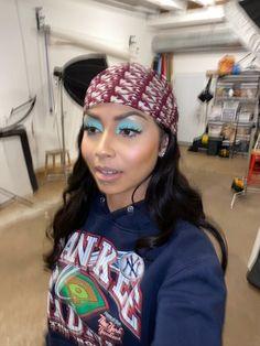 Eye Makeup Art, Beauty Makeup, Makeup Inspo, Hair Beauty, Hair Makeup, Pretty Black Girls, Pretty Woman, Black Girl Aesthetic, Scarf Hairstyles