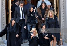 Carla Facciolo, Renee Graziano and family attend the Funeral Service held for Angela 'Big Ang' Raiola on February 22, 2016 in New York City. 'Mob Wives' reality star Angela 'Big Ang' Raiola passed away on February 18, 2016 after a battle with cancer.