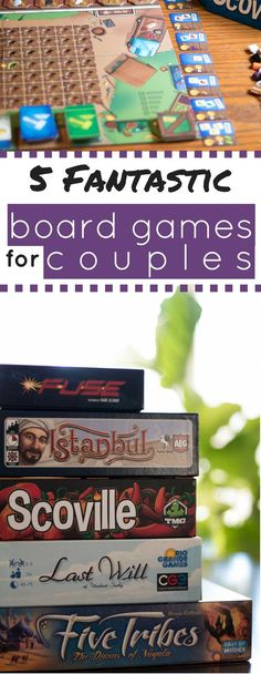 These board games are perfect for date night! 2 player board games for a night in.