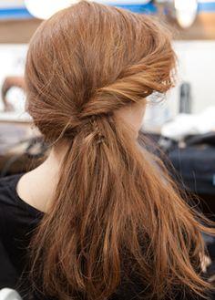 Odile Gilbert creates windswept hair at Rodarte - Hair Trend