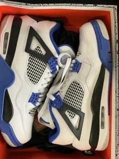 2152a7b8759eff Davina GloverAthletic Shoes · Nike Air Jordan 4 Retro Motorsport  (Black Blue White) Size 10