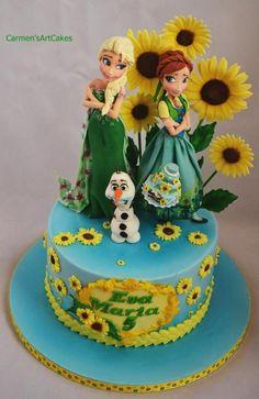 Frozen Fever Birthday Cake Idea