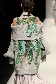 Fashion inspired by nature. Imagine if they added in some bioluminescent plants!