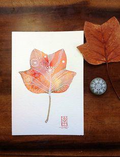Autumn Leaf by MagaMerlina, via Flickr
