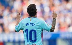 壁紙をダウンロードする Lionel Messi, 4k, サッカー星, FCバルセロナ, サッカー選手, FCB, superstars, レオMessi