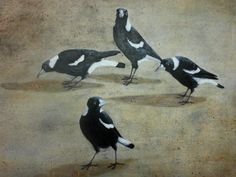Magpie Moments II  [acrylic]
