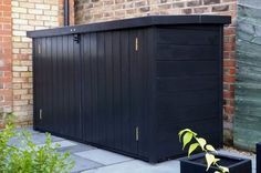 Kayak Storage Shed Stylish solution to your bike storage needs. Bespoke service available too! Bike Storage Outdoor Shed, Garden Bike Storage, Outside Storage, Bicycle Storage, Outdoor Sheds, Deck Storage Bench, Bicycle Rack, Kayak Storage Rack, Shed Storage