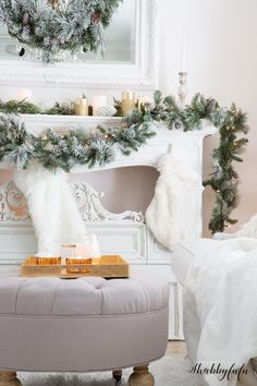 329 best christmas mantels images on pinterest christmas mantles merry christmas and christmas fireplace - Pinterest Decorating Mantels For Christmas