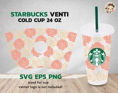 Rose Starbucks Full Wrap Svg Starbucks Svg Starbucks Cold | Etsy