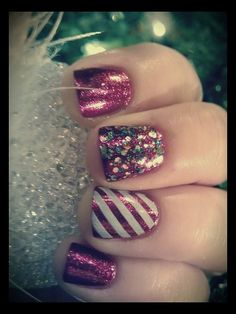 Nail Designs For Christmas♥ love love it!
