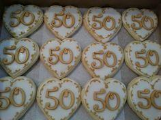 50th Anniversary cookies www.GGCupcake.com