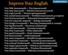 very +, improve your english!