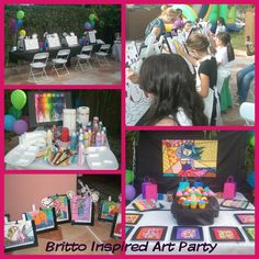 Romero Britto Art Birthday Party
