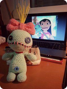 Scrump the Voodoo Doll Lilo and Stitch Amigurumi door NoukoPatterns