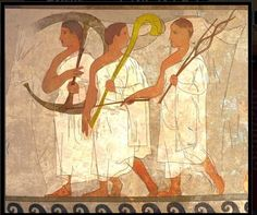 3 Musicians Hescana Tomb - Porano. Etruscan.