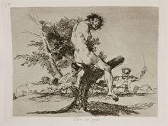 """Francisco de Goya - Esto es peor (""""This is worse"""") (Plate 37, 1810-1814)"""