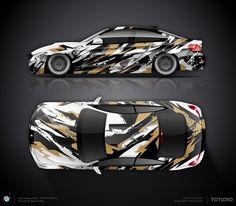 Grunge wrap design concept #9 for BMW M4