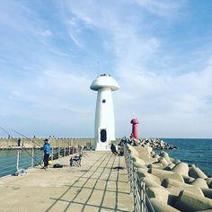 【doogie_noh】さんのInstagramをピンしています。 《#첫줄 . 20160107 #속초 #물치항 #송이등대 #겨울 #바다 #여행 #여행스타그램 #일상 #감성 #1월 #family #trip #winter #sea #lighthouse #Korea #旅 #冬 #海 #灯台 #青空》