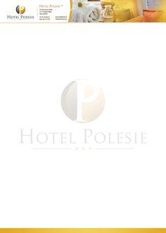 Projekt papieru firmowego wykonany dla Hotelu Polesie.