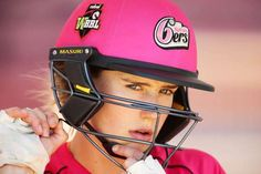 Ellyse Perry of the Sixers prepares to bat during the Women's Big Bash League match between the Sydney Sixers and the Brisbane Heat on Sunday in Sydney, Australia. - Love this shot!