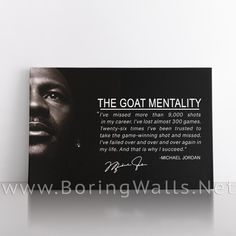 Michael Jordan Quote - 36x24 inch / 0.75 depth