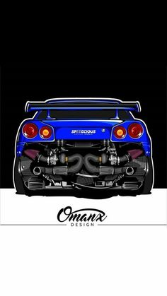 Tuner Cars, Jdm Cars, Nissan Skyline, Nissan Gtr R34, Jdm Wallpaper, Car Illustration, Illustrations, Car Drawings, Automotive Art