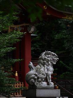 """ Lion-dog statue by sisigashira "" Japanese Folklore, Japanese Art, Korean Art, Asian Art, Foo Dog Tattoo, Asian Architecture, Lion Dog, All Nature, Chinese Art"