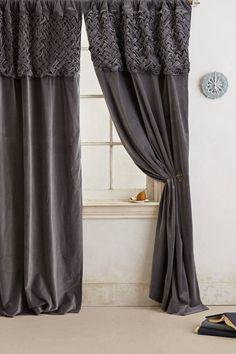 Braided Velvet Curtain - anthropologie.com