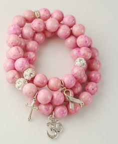 Breast Cancer Avereness bracelet. make a frame for my mom memory photo