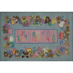 Fun Rugs Supreme Collection Teddies & Letters Area Rug
