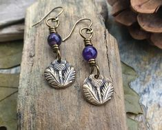 Outlander Jewelry Scottish Thistle Earrings Outlander Gifts