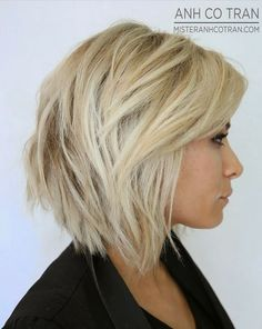 .layered short bob