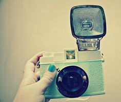 blue teal camera. I love love love this one. The one I've been wanting that