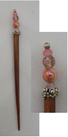 Silver & Pink Beaded Wooden Hair Stick New Shawl Pin NEW Accessories Fashion #Handmade #HairStick http://www.ebay.com/itm/Silver-Pink-Beaded-Wooden-Hair-Stick-New-Shawl-Pin-NEW-Accessories-Fashion-/162096796176?ssPageName=STRK:MESE:IT