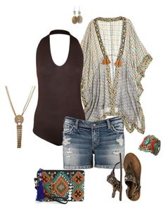 """Boho big girl- plus size"" by gchamama ❤ liked on Polyvore featuring Stéphanie Vaillé, Matisse and Street Level"