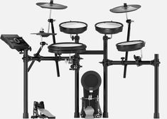 The Roland e-drum set is a high-quality set from Roland, equipped with 310 sounds, 50 kits and professional snare pad. Electronic Music, E Drum Set, Roland V Drums, Drum Key, Acoustic Drum, Cable Drum, Drum Lessons, Sound Engineer, Music